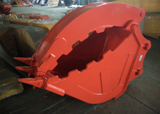 Excavator Grapple Hydraulic Bucket Thumb Grapple With Grating Bucket