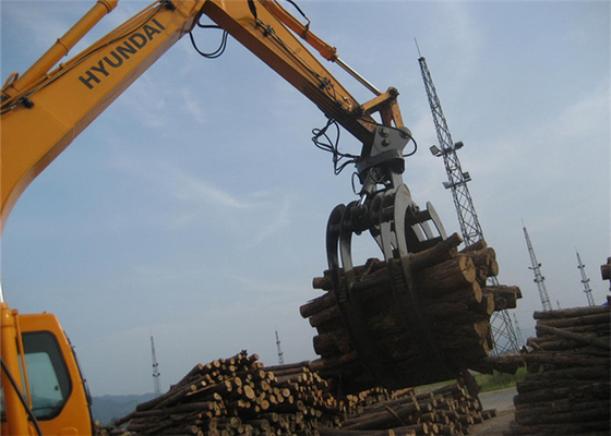 360 Degree Rotating Wood Grapple Attachment For Excavator Komatsu PC200